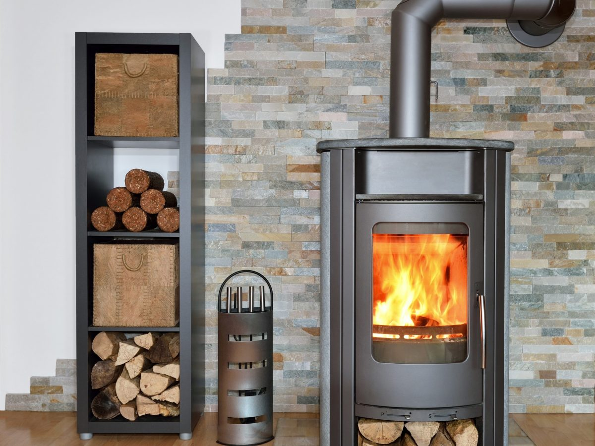 wood fired stove while burning | heat design company